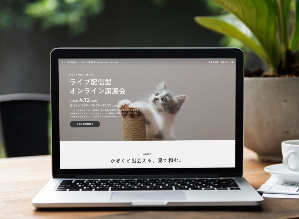 ライブ配信型オンライン譲渡会特設ページ